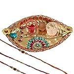 Mela Festive Exclusive, Handcrafted,Decorative Pooja Thali for Diwali