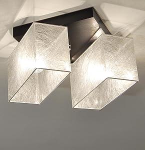 Designer Decken Leuchte Lampe Retro Deckenleuchte Schlaf Zimmer E27 Power LED Athen 7 (Holzfarbe WENGE)   Kundenbewertung und weitere Informationen