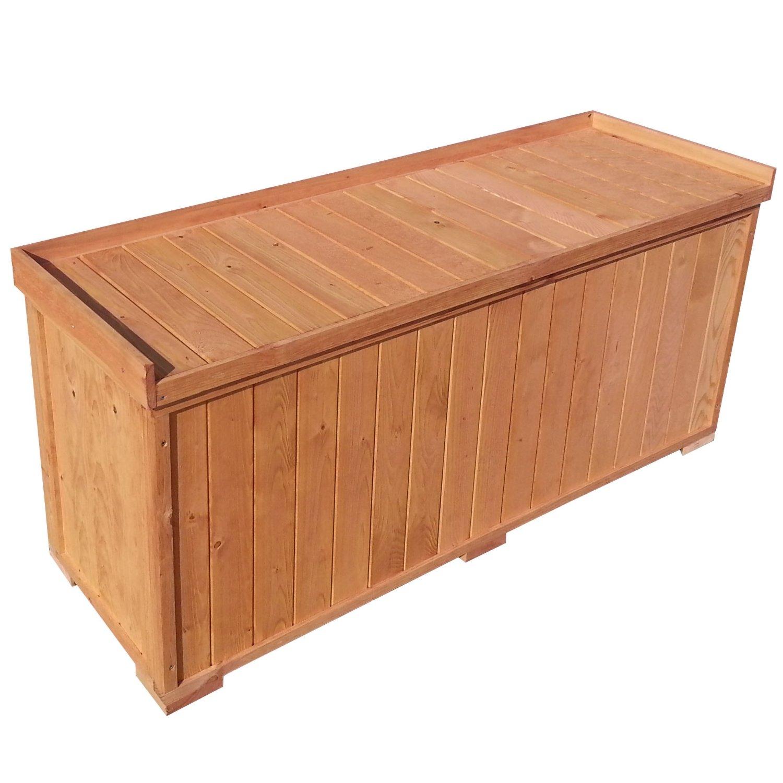 Auflagenbox: stabile Gartenbox mit Sitz, 122x41x56cm, Sitzbank für 3 Personen, Truhe Kiste bestellen