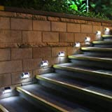 [Upgraded 3 LED] HKYH Newest 8 Pack 3 LED Solar Bright Step Light Stairs Pathway Deck Garden Lamps Stainless Steel Wall Yard Outdoor Illuminates Patio Lamps (Color: 8 Pack, Tamaño: 8 pack)