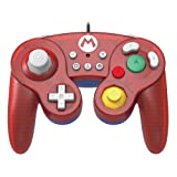 HORI Nintendo Switch Battle Pad (Mario) GameCube Style Controller - Nintendo Switch (Color: Super Mario)
