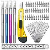 Exacto Knife Upgrade Precision Carving Craft Knife Hobby Knife Exacto Knife Kit 50 Spare Xacto Blade for Art, Hobby, Scrapbooking,Stencil (Tamaño: Exacto Knife)