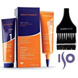 Iso MAINTAMER Two-Step STRAIGHTENING SYSTEM, Damage-Free, Thio-Free, Lye-Free, Frizz-Free (with Sleek Tint Applicator Brush) (1 APPLICATION BOX) (Tamaño: 1 APPLICATION BOX)