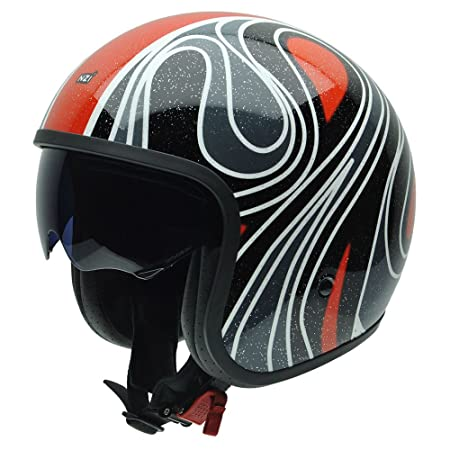 NZI 050287G743 Rolling Graphics Seventies, Casque de Moto, Taille XL Multicolore