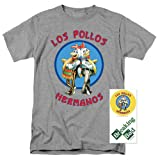 Breaking Bad Los Pollos T Shirt (Medium) (Color: Gray, Tamaño: Medium)