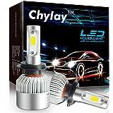LED Headlights S2 Series H7 LED Car Headlight Bulbs with 2 Pcs of Conversion Kits 72W 8000LM Bridgelux COB Chips Fog Light Chylay