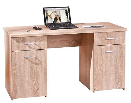 Links 19200230scrivania computer mobili ufficio tavolo tavolo da lavoro ufficio Rovere sonoma