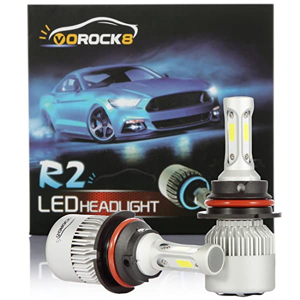 HB5 9007 Dual LED 72W 8000LM Headlight Conversion Bulb White 6000K HIGH//LOW BEAM