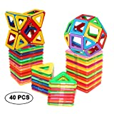 DreambuilderToy Magnetic Tiles Building blocks Toys by (40 PCS)