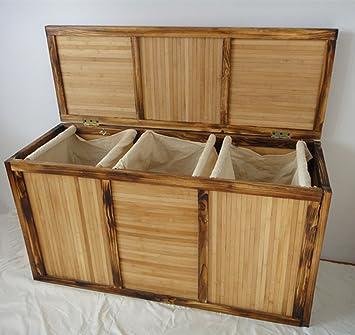 b waren bambus w schekorb w schetruhe 3 f cher. Black Bedroom Furniture Sets. Home Design Ideas