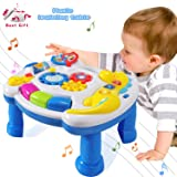 HOMOF Baby Toys Musical Learning Table 6 Months up-Early Education Music Activity Center Game Table Toddlers,Infant,Kids Toys for 1 2 3 Years Old Boys & Girls- Lighting & Sound Gifts (Color: Gear, Tamaño: table)
