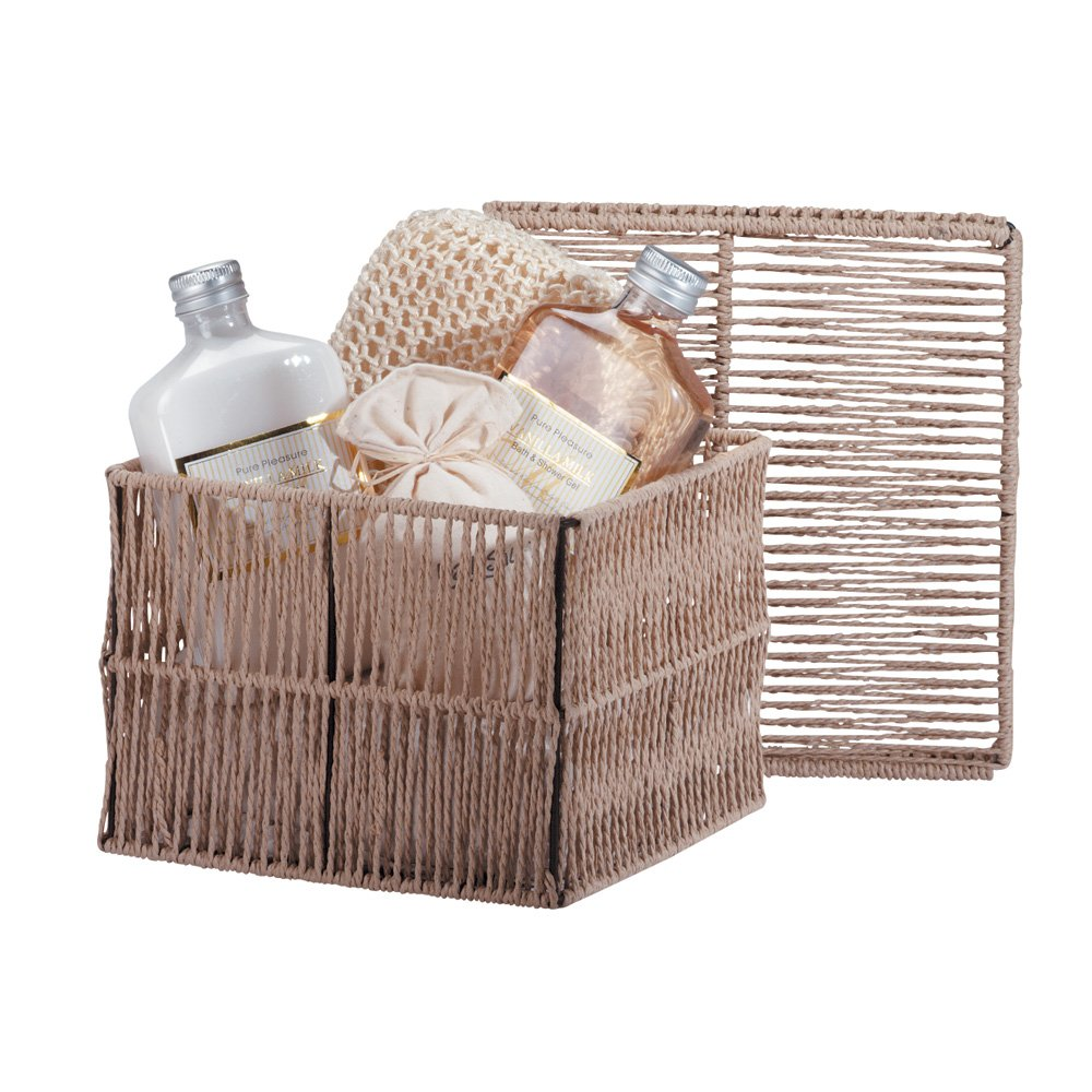 Vanilla Milk Bath Gift Set Rustic Cord Box Gel Lotion