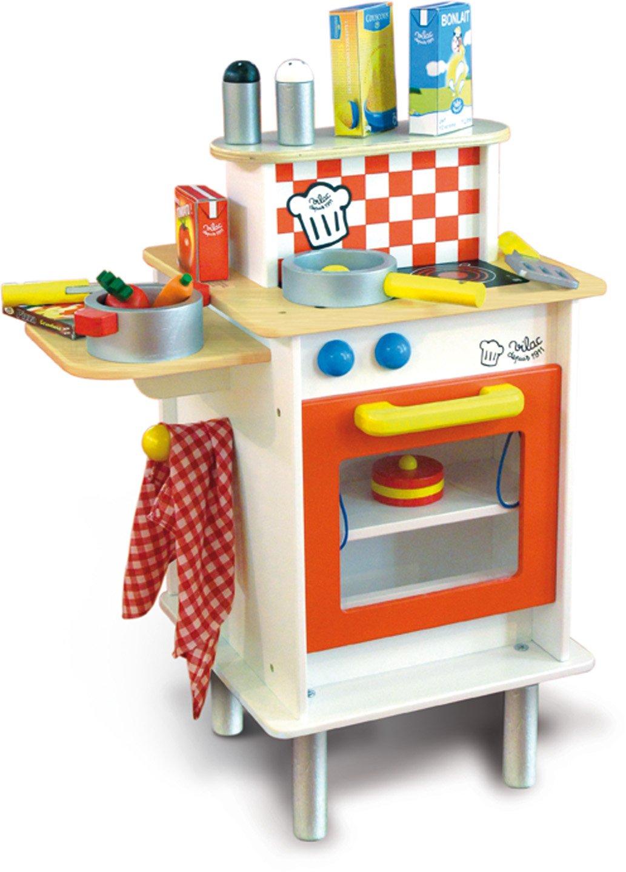 Holz SpielkUche Von Beiden Seiten Bespielbar ~ Große Doppelseitige Vilac Holz Spielküche mit vielen Zubehör