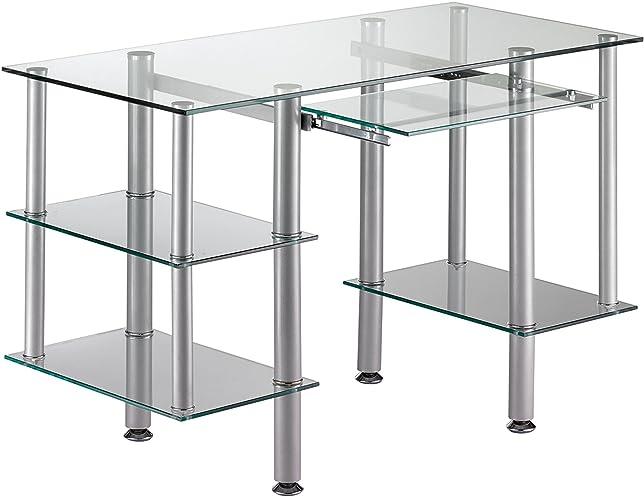 Ufficio informatica vetro temperato e acciaio