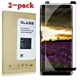 Galaxy Note 8 Premium Tempered Glass Screen Protector [Easy to Install][Case Friendly][Anti-Fingerprint]For Samsung Galaxy Note 8[2PACK][Black]