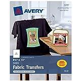 Avery Printable T-Shirt Transfers, for Use On Dark Fabrics, Inkjet, 30 Paper Transfers (3279) (Tamaño: 30 Sheets)