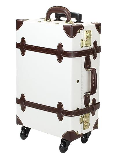 【MOIERG】 キャリーバッグ コンビ TSA キャリーケース 4輪 軽量 (M, シロ)[81-55036-20]