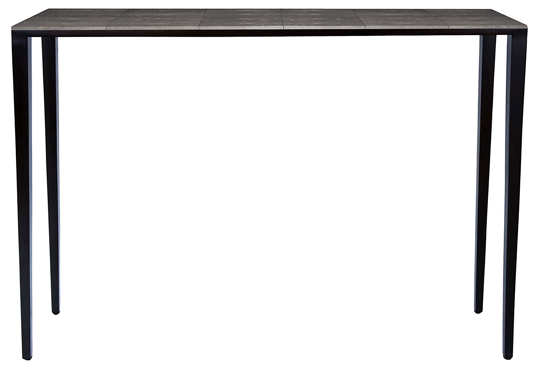 AMARIS Elements CO98278.SR Moderne Konsole aus feinstem Rochenleder mit eleganten Beinen 120 x 30 x 90 cm