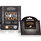 Dr. Killigan's Premium Pantry Moth Traps with Pheromone Attractant | Safe, Non-Toxic with No Insecticides | Organic (6, Black) (Color: Black)