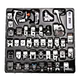 Agile-Shop Professional Domestic 42 pcs Sewing Machine Presser Feet Set for Brother, Babylock, Singer, Janome, Elna, Toyota, New Home, Simplicity, Necchi, Kenmore, and White Low Shank Sewing Machines (Color: 42 Pcs)