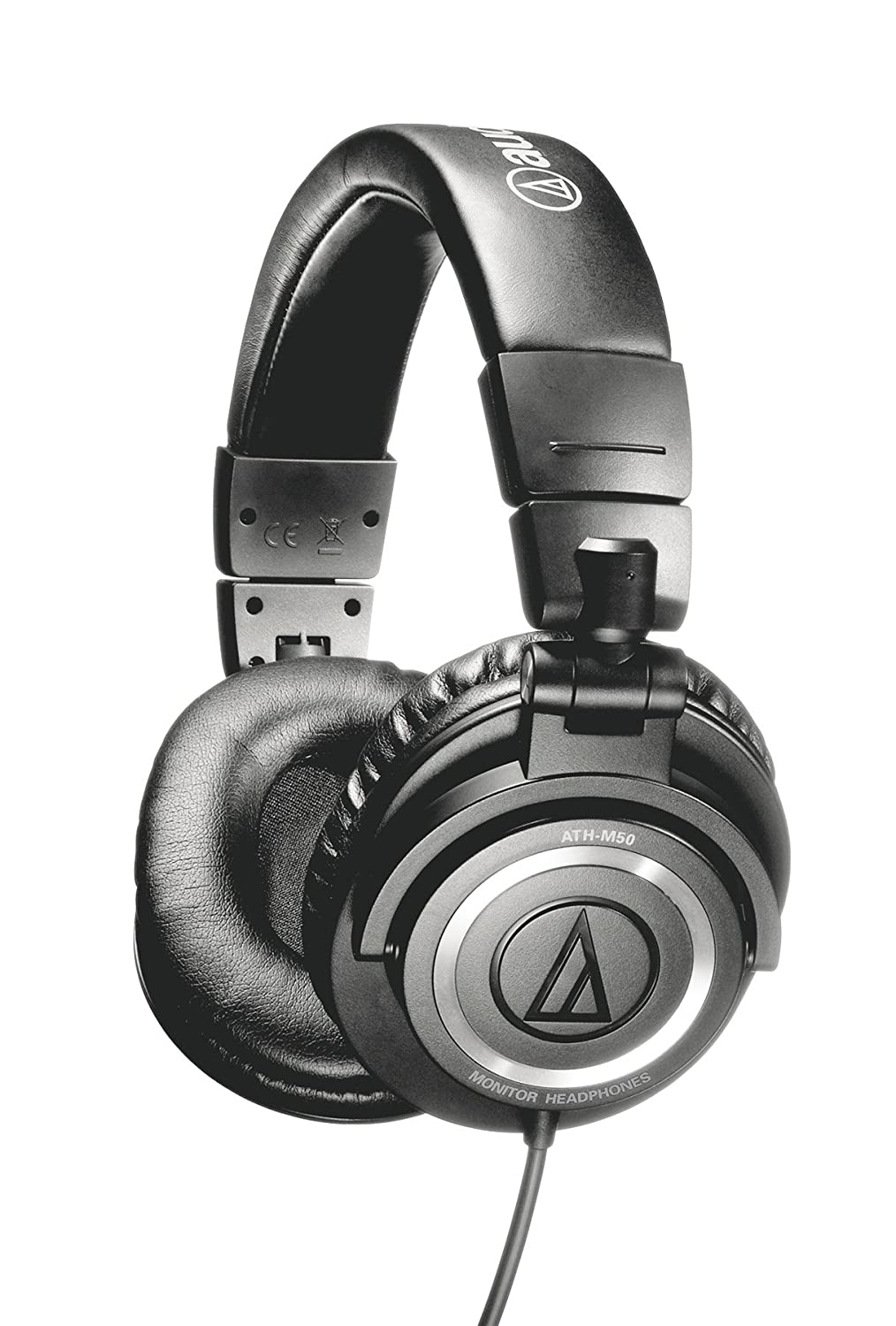 Audio-Technica ATH-M50 Professional Studio Monitor Headphones with Coiled Cable $104.00