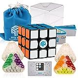 D-FantiX Gan 356 Air SM Speed Cube 3x3 Gans Air SM Magnetic Cube 3x3x3 Puzzle Toy Black (Color: Black)