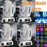4pcs white housing carton pack 230w 7R Sharpy Beam Moving Head Light Touch Screen Dmx 16/20ch for Stage Disco DJ