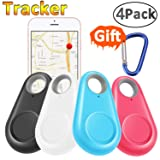 GBD GPS Tracker Smart Finder Locator for Kids Boys Girls Pets Key Wallet Car Dog Cat Child Bag Phone Alarm Anti Lost Selfie Shutter Wireless Seeker Holiday Birthday Gifts (4 Pack) (Color: 4 Pack)