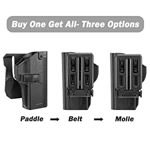 efluky Beretta PX4 Storm Holster with Three Options Fits