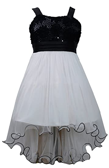 High Low Fall Dresses For Girls 7-16 Big Girls Black White