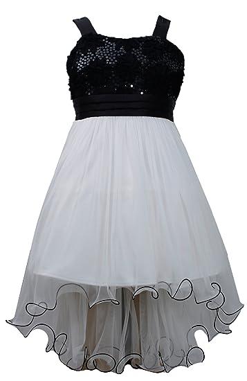 High Low Fall Dresses For Girls 7-16 Big Girls Black White