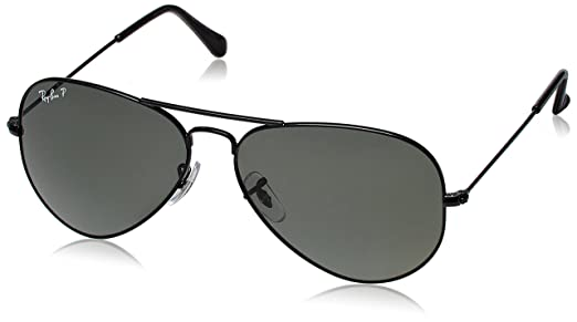 ray ban aviator sunglasses black rb302500258 58