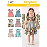 Simplicity Easy-to-Sew Pattern 2377 Girls Dresses, Sizes 3-4-5-6-7-8