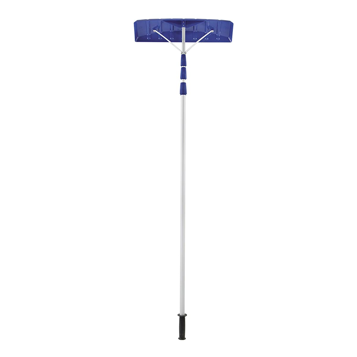 "Snow Joe RJ204M 21 Twist-n-Lock Telescoping Snow Shovel Roof Rake with 6"" by 25"" Poly Blade"