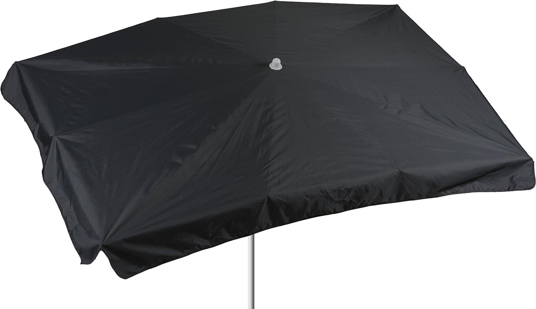 beo Sonnenschirme wasserabweisender rechteckig, 130 x 200 cm, anthrazit / schwarz online kaufen