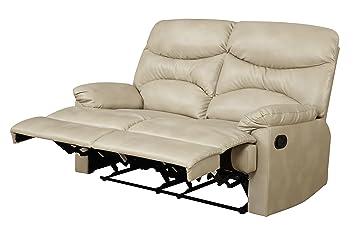 Glory Furniture G458-RL Reclining Loveseat, Beige