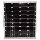 50 Watt Monocrystalline Solar Panel - Mighty Max Battery brand product (Tamaño: 50 Watt Mono)