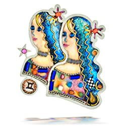 Seeka Youthful Gemini the Twins Zodiac Pin P0906