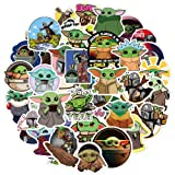 Toaoran Baby Yoda Stickers (50 Pieces), Includes The Mandalorian Sticker with Yoda Baby, Lots of Choices for Hydro Flask Laptop Mug Water Bottles Phone,Waterproof Extra Durable 100% Vinyl (Color: Baby yoda)