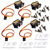 XCSOURCE 4x Emax High Sensitive Mini Sub Micro Servo ES08A 9g For RC Helicopter RC019