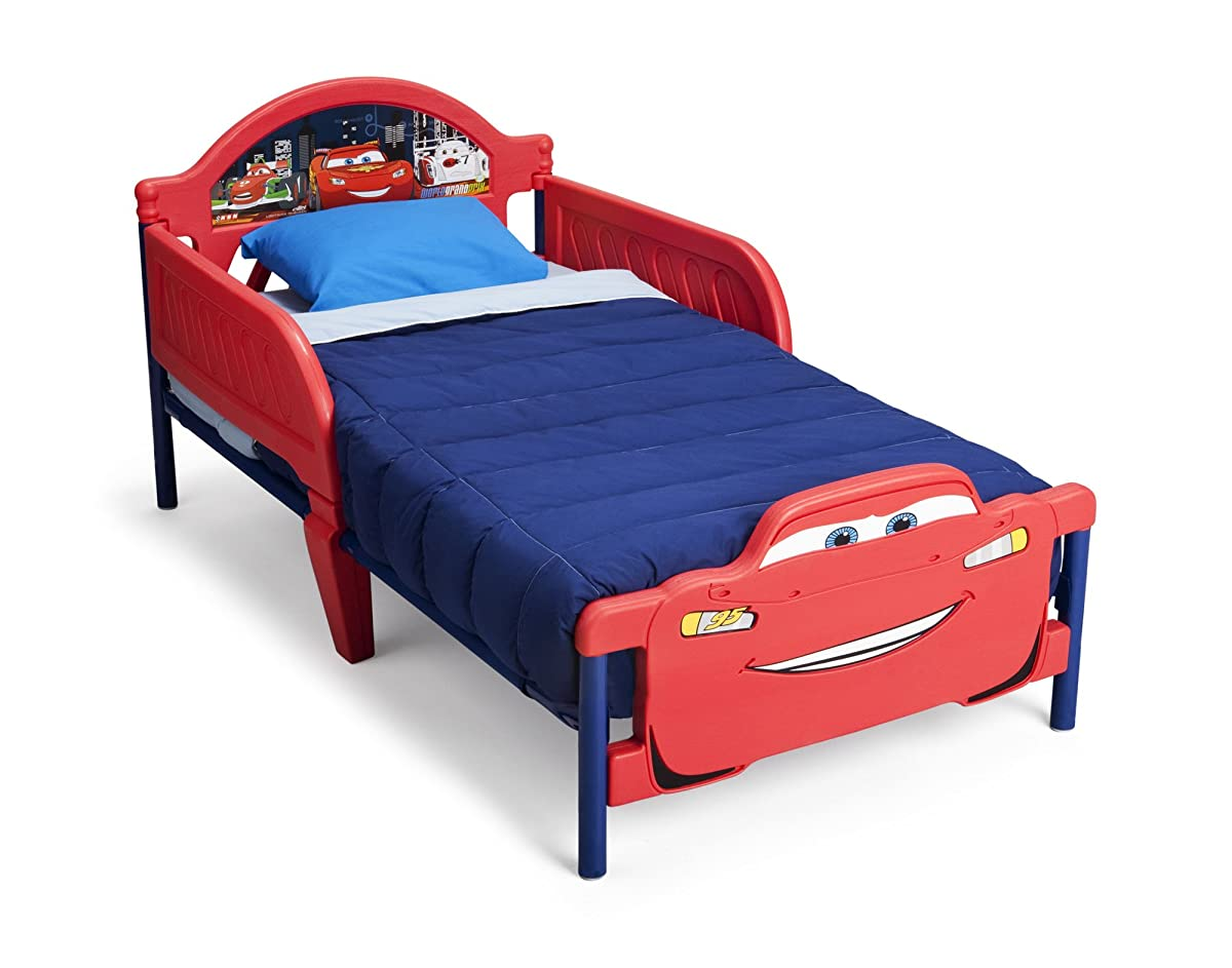 Cars Toddler Bed Set: Delta Children 3D-Footboard Toddler Bed, Disney/Pixar Cars