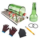 Glass Bottle Cutter, VIBIRIT Glass Cutting Tools with Accessories, DIY Machine Tool Kit for Cutting Round or Square Glass Bottles