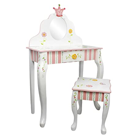 Primary PRODUCTS LTD W-7455A Coiffeuse et Tabouret Princess & Frog Multicolore