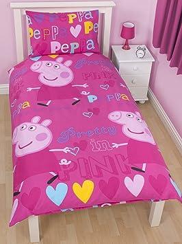 peppa pig coton rose housse housse de couette et. Black Bedroom Furniture Sets. Home Design Ideas
