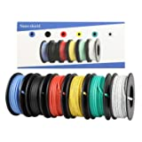18 AWG UL3132 Hook-up Stranded Wire, 6 Colors (16.5ft Each) Flexible 30 Gauge Silicone Wire Rubber Insulated Electrical Wire, 300V Tinned Copper Electric Cable (Color: 18 AWG 3132)