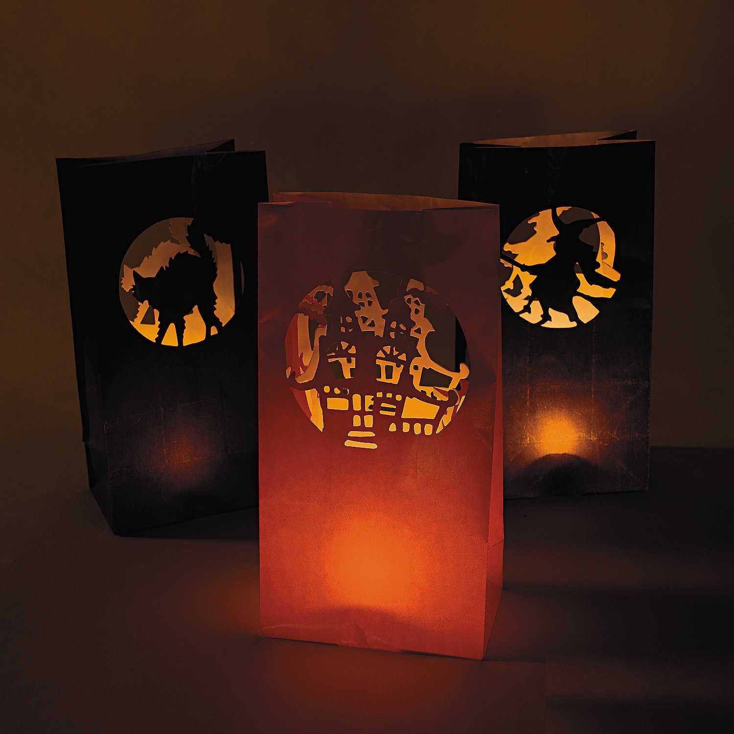 paper luminaries Even if you are not an avid diyer, you can easily make one of these garden luminaries to lighten your landscape.