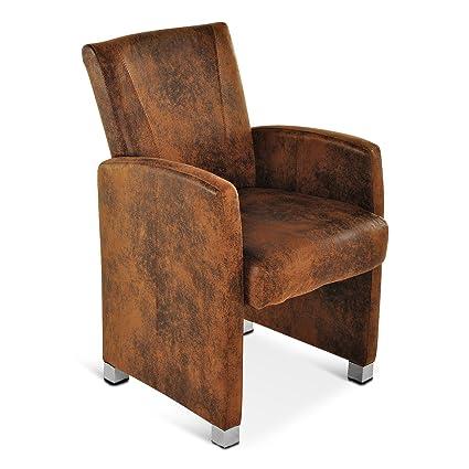 Design Lounge Sessel Stoff braun