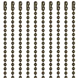 30 Inch Medieval Brass Finish Number 3 Ball Chain Necklaces 10 Count (Color: Medieval Brass)
