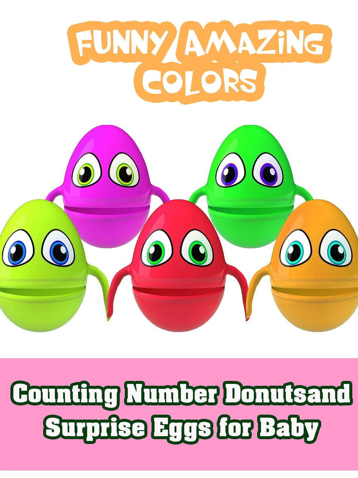 Counting Number Donutsand Surprise Eggs for Baby