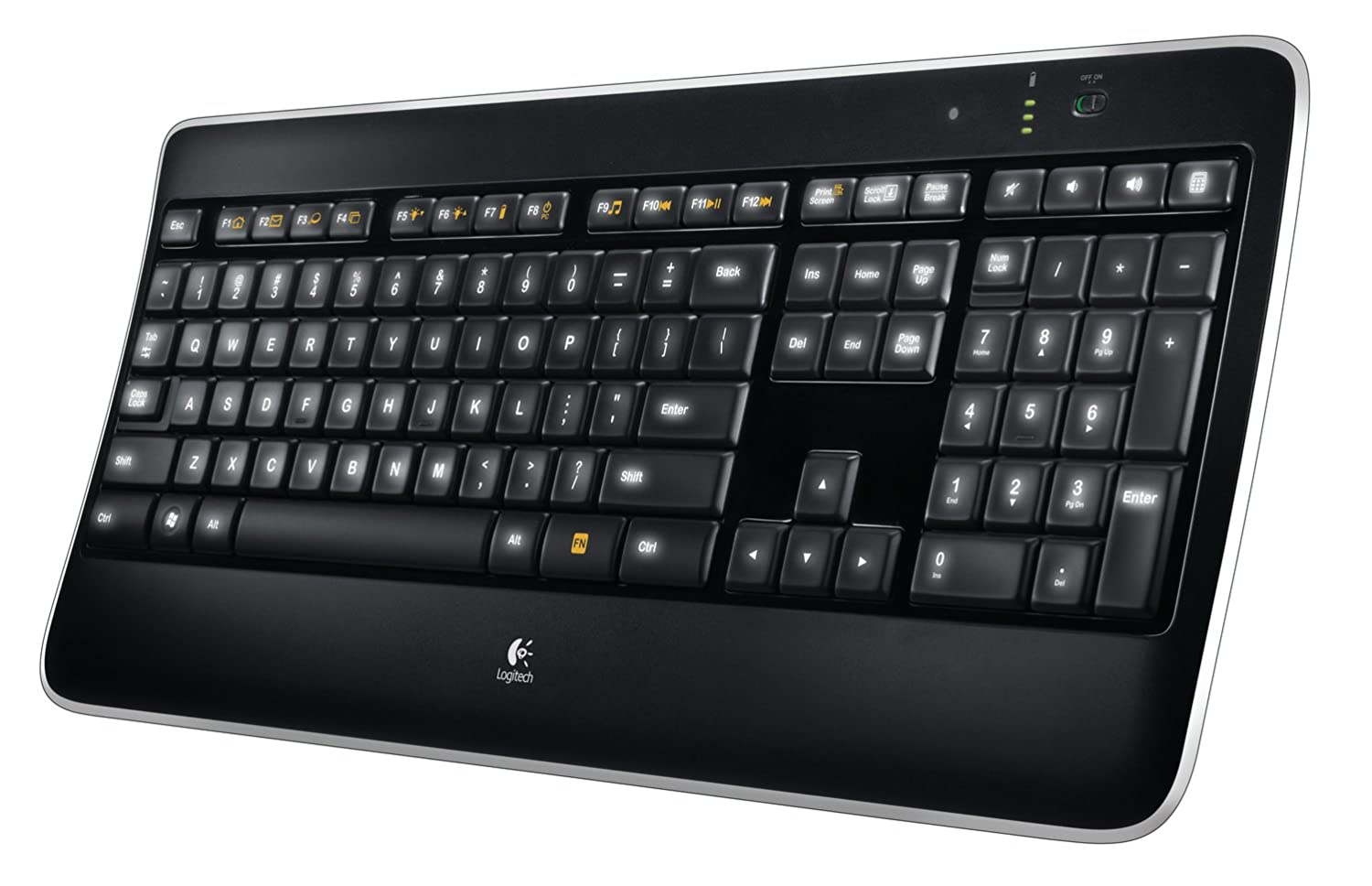 Clavier d'ordinateur LOGITECH WIRELESS ILLUMINATED K800 920002372 NOIR
